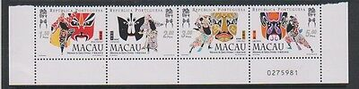 Macau - 1998 Opera Masks set as a strip of 4 - MNH - SG 1056/9
