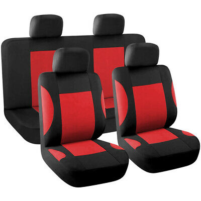 New 8pcs Styling Auto Interior Accessories Car Seat Cover full set Red