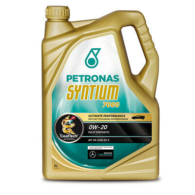 Car Engine Oil 5 Litre Fully Synthetic Petronas Syntium 7000 SAE 0W20 5L Litres