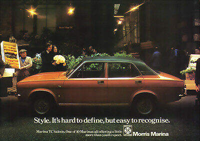 Morris Marina Tc Retro A3 Poster Print From Classic 70's Advert