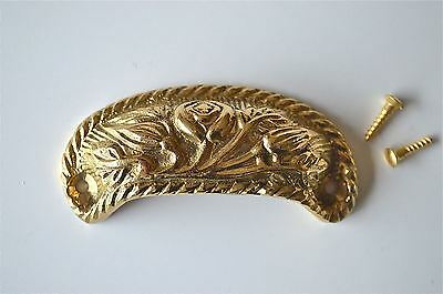Solid brass vintage cup drawer handle dresser draw pull handle c/w screws 2002