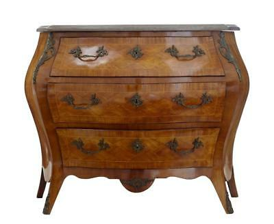 20Th Century French Walnut Marble Top Commode