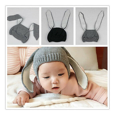 Kids Baby Rabbit Ears Knitted Cap Infant Toddler Children Winter Photogragh Hat