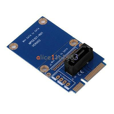 mSATA Mini PCI-e Express SATA SSD Slot To 7 Pin SATA HDD Convert Card Adapter