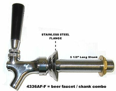 "Draft Beer Faucet and Shank 5 1/8"" Shank  - Kegerator Tap Set beer part 4336af-c"