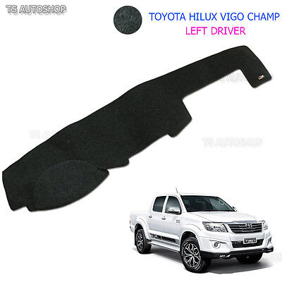 Dashmat Carpet Left Driver Blk Dash Mat Cover Toyota Hilux Vigo Champ 2005 10 14