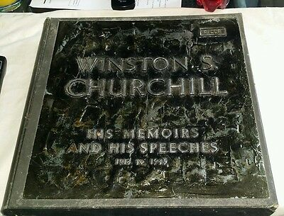 Decca Winston S.churchill 1918-1945 His Memoirs And His Speeches Excellent Cond