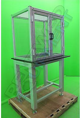 Clear Acrylic Table Top Hood balance Enclosure Lab table Granite Topped Stand #4