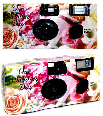 (Lot of 40) Disposable Cameras Wedding Camera One Time Single Use Flower E:2017