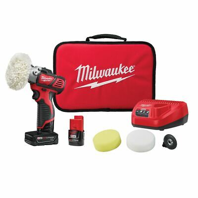 NEW Milwaukee M12 Variable Speed Polisher /Sander Kit 4.0 & 2.0 Bat Kit 2438-22X