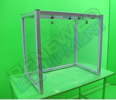 "Clear Acrylic Table Top Hood Enclosure L 35"" x W 22.5"" x H 32"" #2"
