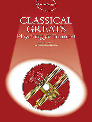 Classical Greats Play-Along for Trumpet Solo Sheet Music 10 Pieces Book CD NEW