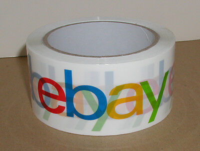 "1 Roll Of Ebay Full Color 2"" Inch Shipping Packing Packaging Tape-Use To Promote"