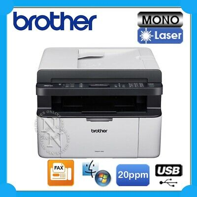 Brother MFC-1810 4in1 Mono Laser USB MFP Printer+FAX+ADF 20PPM w/ TN1070 Toner