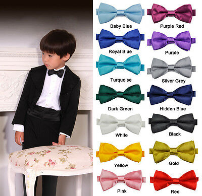 Bowtie Pre Tied Wedding Bow Tie Necktie Children Kids Boys Toddler Infant Solid