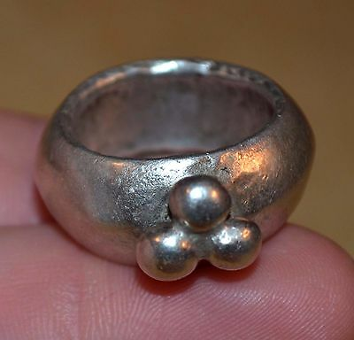 Antique Ethiopian Ethnic Coin Silver Ring From Ethiopia Africa, Ring Size 7 1/2