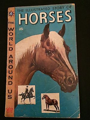 CLASSICS ILLUSTRATED: THE WORLD AROUND US #3 HORSES VG- Condition