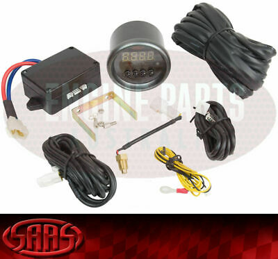 SAAS Radiator Thermo Fan Switch Controller Black Face Dial 52mm Multi Colour