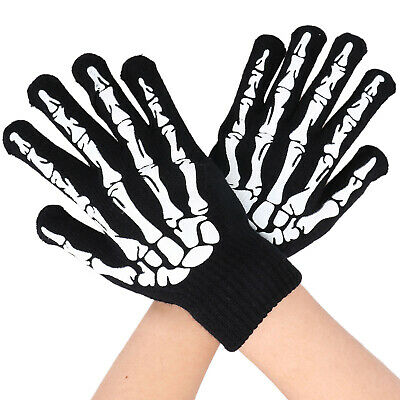 Cycling Biker Motorcyle Skull Bone Skeleton Goth Racing Full/Half Finger Gloves