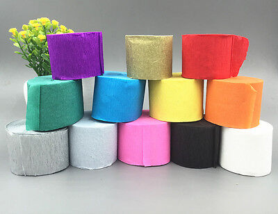 Crepe Paper ribbon Birthday Wedding Decoration Children handmade Craft 3.5CM*10M