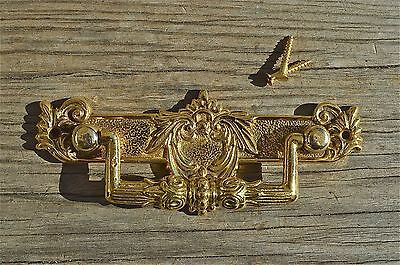 Regency brass folliage drawer handle draw pull desk chest cabinet 2025
