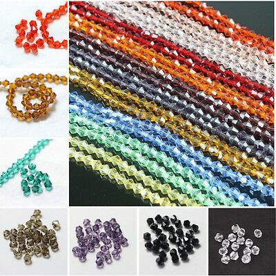 Loose 100pcs 4mm Glass Crystal #5301 Bicone Spacer beads Beautiful Furnishings