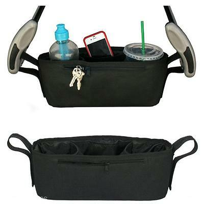 Universal Baby Stroller Pram Parent Organizer Tray Storage Cup Holder Bag Buggy
