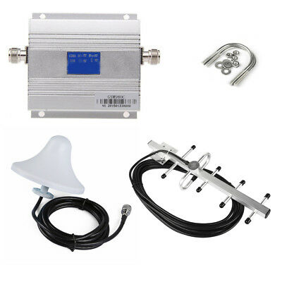 LCD AMPLIFICATORE SEGNALE Repeater Booster UMTS 3G GSM 900Mhz +Yagi Antenna Kit