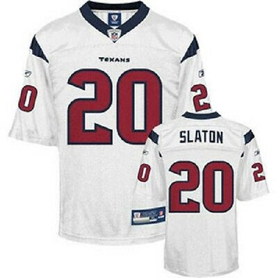 NFL Authentic ONFIELD Trikot HOUSTON TEXANS Steve Slaton 20 weiß Football Jersey
