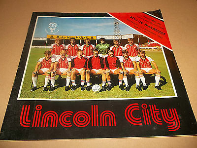 Lincoln City V Bolton Wanderers Division 3 Football Programme 1983