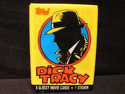 Dick Tracy Topps 1990 Glossy Movie Cards 3 Unopened Packs with 8 Cards 1 Sticker
