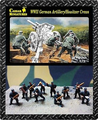 Caesar Miniatures 084 - WW2 German Artillery / Howitzer Crews      1:72 Figures
