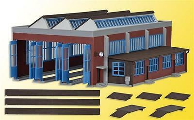 Kibri 3 Track Engine Shed - Plastic Kit - N Gauge - 37806
