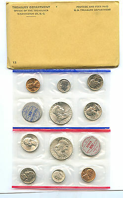 1960 US Mint Set Original Government Envelope and Packing
