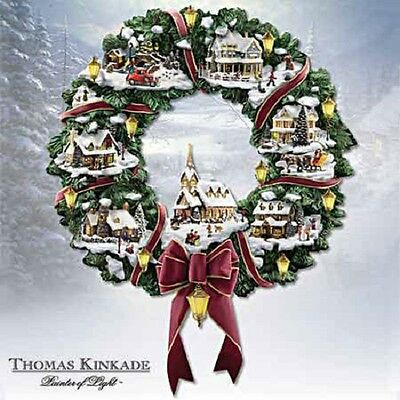 Thomas Kinkade Christmas Village Wreath - Bradford Exchange