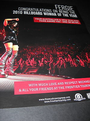 FERGIE Australia & New Zealand Adore You PROMO AD mint