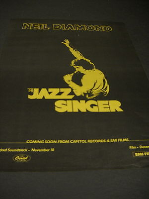 NEIL DIAMOND 1980 Promo Poster Ad coming soon... THE JAZZ SINGER