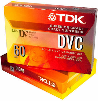 10-Pack TDK Mini DVC 60 Minute DVM Digital Video Blank Cassette Tape DVC60 NEW