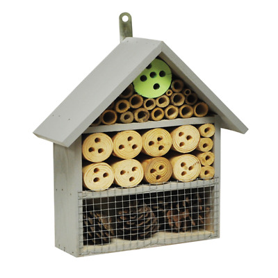 Medium Coloured Insect Bee Hotel Wooden House Box Nest Bug Ladybird Bee Keeping