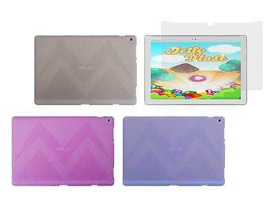 TPU Gel Skin Cover Case + Screen Protector for ASUS ZenPad 10 Z300M Tablet 2016