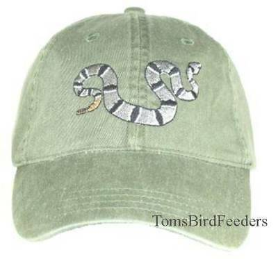 Banded Rock Rattlesnake Embroidered Cotton Cap NEW Hat