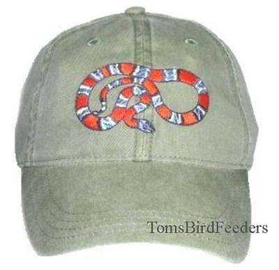 Gray Banded Kingsnake Embroidered Cotton Cap NEW Hat