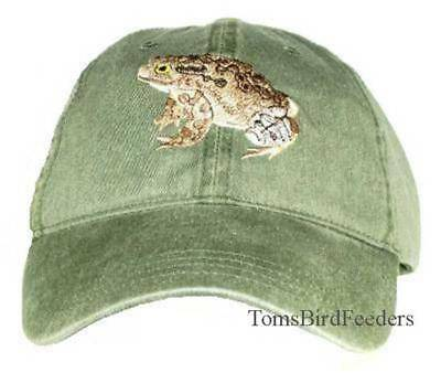 American Toad Embroidered Cotton Cap NEW Amphibian Hat