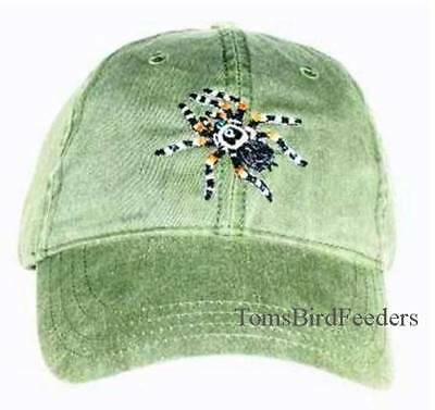 Red-Kneed Tarantula Embroidered Cotton Cap NEW Hat