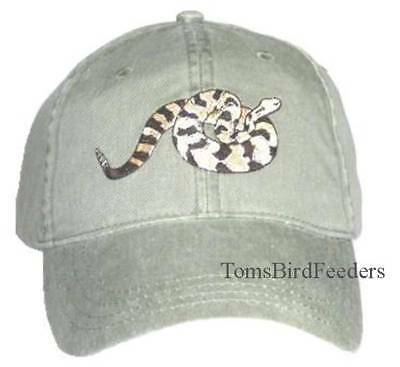 Timber Rattlesnake Embroidered Cap NEW Reptile Hat