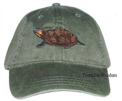 Bog Turtle Embroidered Cotton Cap NEW Hat Reptile