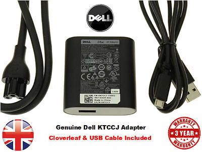 New AC Adapter Charger for Dell Venue 11 11i 8 7 Pro Tablet 24W HA24NM130 KTCCJ
