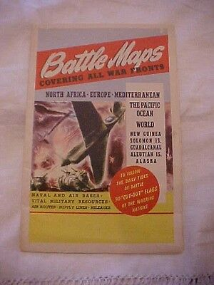 BATTLE MAPS COVERING ALL WAR FRONTS by CS Hammond and Co. New York 1944