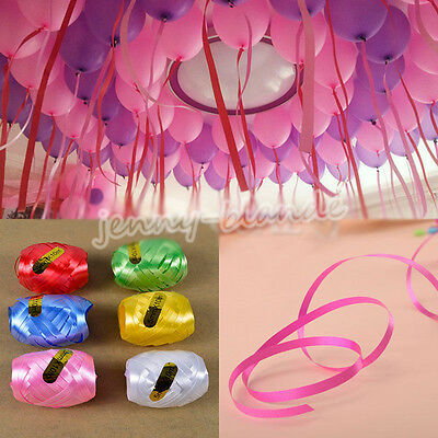 6Roll/Bag Solid Curling Balloon Ribbon For Party Wedding Balloon Decor 10*5mm