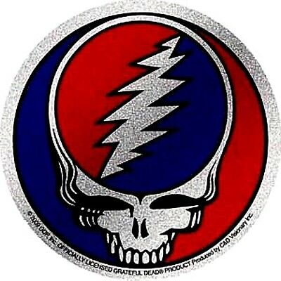 GRATEFUL DEAD glitter steal your face STICKER sparkly **FREE SHIPPING** c s5260g